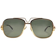 Mint Vintage Ray Ban Gold 10K G.O G15 Grey Lenses B&L 1970's Sunglasses