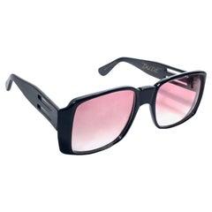 "Mint Vintage Ultra "" DUDE "" Black British Hand Made 1980's Sunglasses"