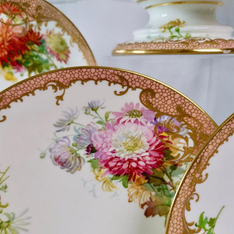 Minton Dessert Service, Signed by Anton Connelly, circa 1894 For Sale 7