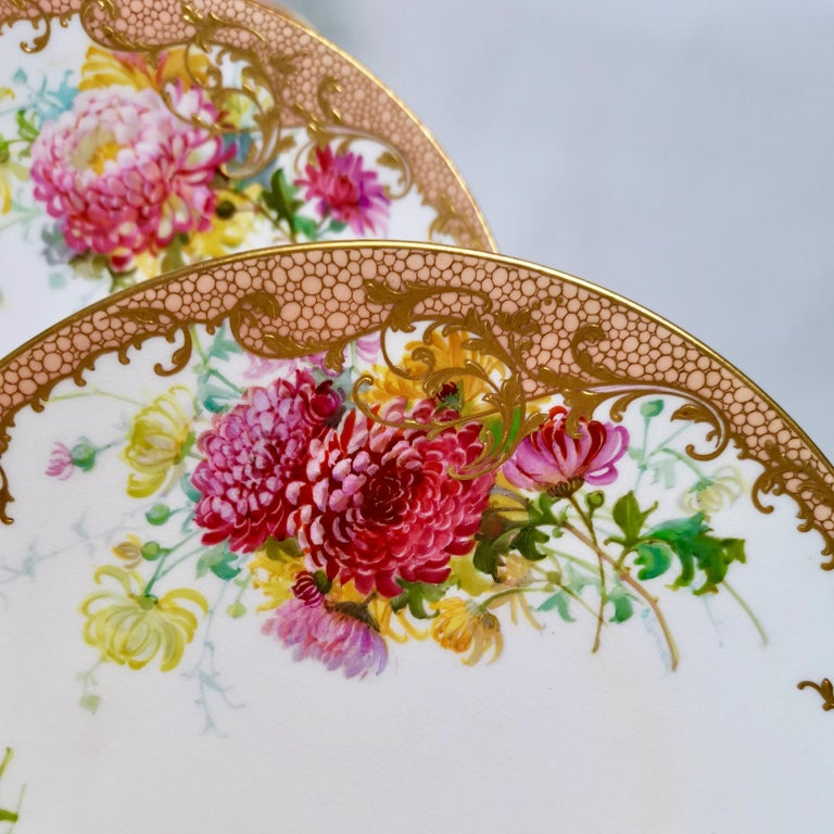 Minton Dessert Service, Signed by Anton Connelly, circa 1894 For Sale 9