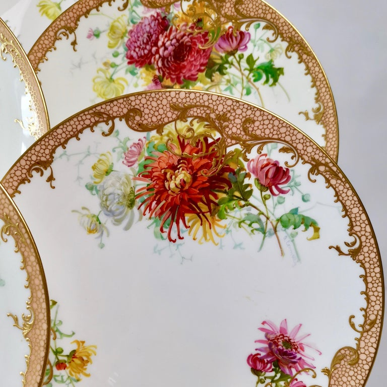 Minton Dessert Service, Signed by Anton Connelly, circa 1894 For Sale 1