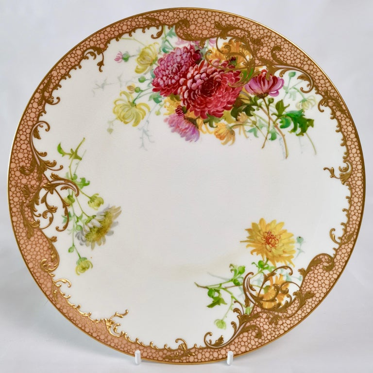 Minton Dessert Service, Signed by Anton Connelly, circa 1894 For Sale 2