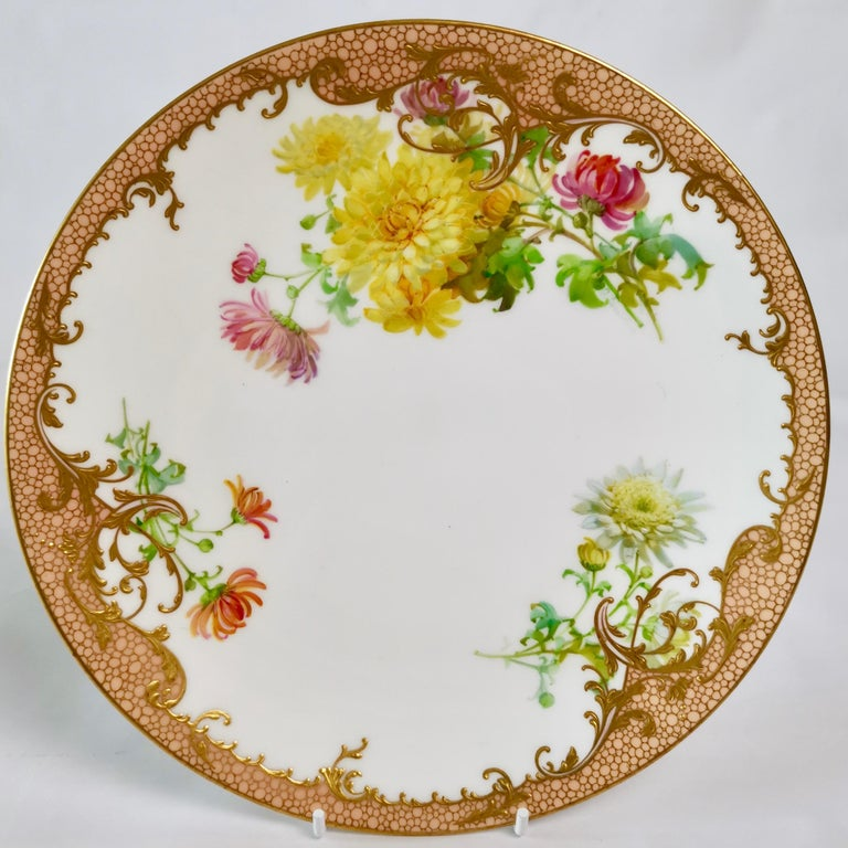 Minton Dessert Service, Signed by Anton Connelly, circa 1894 For Sale 4