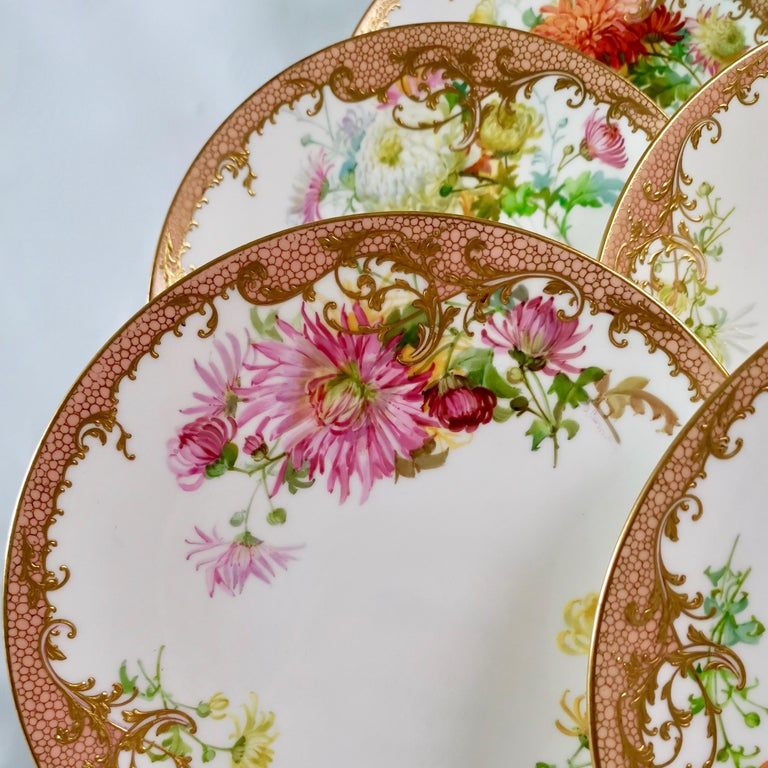Minton Dessert Service, Signed by Anton Connelly, circa 1894 For Sale 5