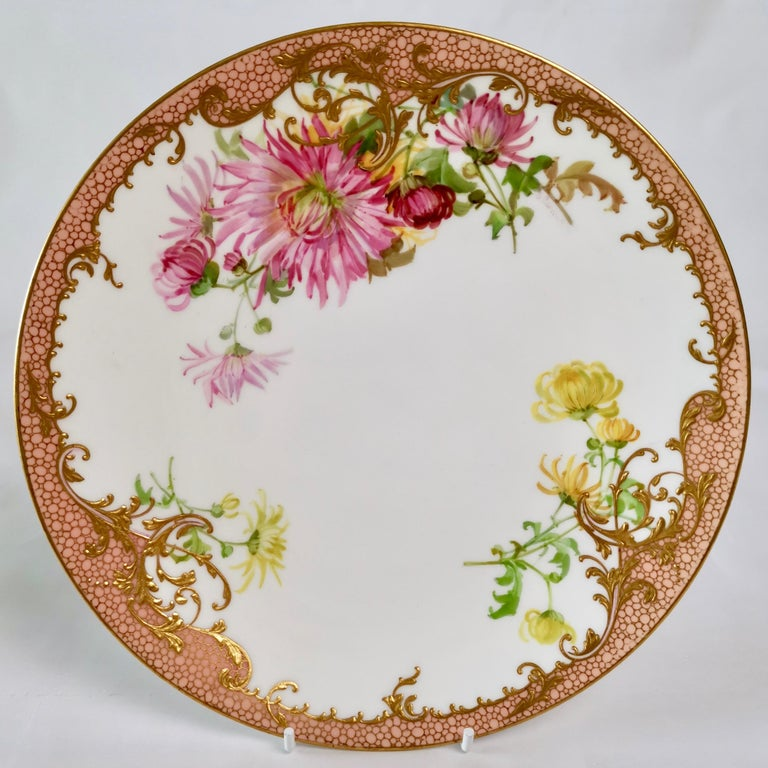 Minton Dessert Service, Signed by Anton Connelly, circa 1894 For Sale 6