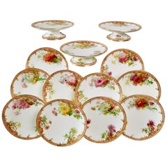 Minton Dessert Service, Signed by Anton Connelly, circa 1894