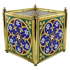 Minton French and English Ceramic Planter, 1880s