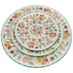 "Minton ""Hadden Hall"" Green Edge Bone China, Setting for Eight"
