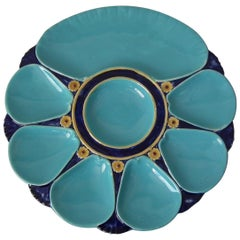 Minton Majolica 7 Well Oyster Plate