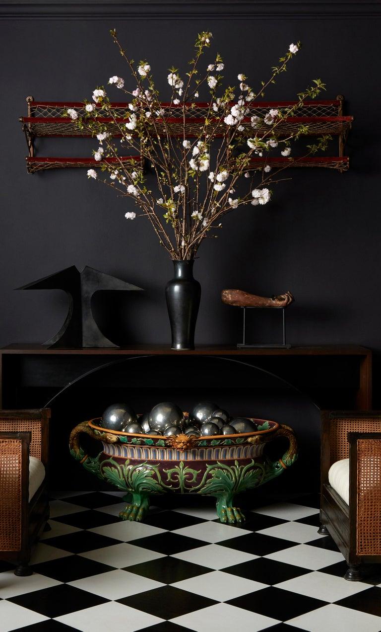 Glazed Minton Majolica Aubergine-Ground 'Marochetti' Cistern, Mid-19th Century For Sale