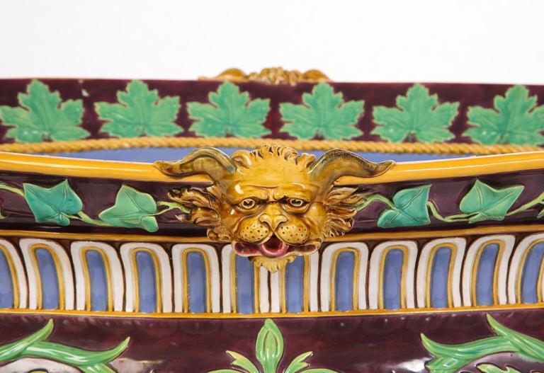 Minton Majolica Aubergine-Ground 'Marochetti' Cistern, Mid-19th Century For Sale 1