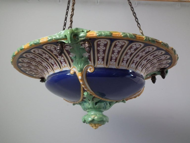 Minton Majolica Hanging Basket For Sale 13