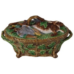 Minton Majolica Mallard Game Pie Dish, Liner and Cover
