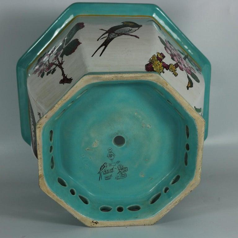 Glazed Minton Majolica 'Naturalist' jardinière by W.S Coleman For Sale