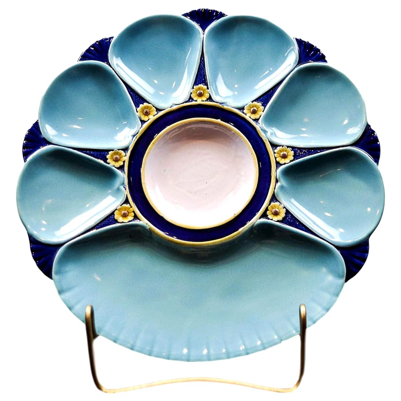Minton Majolica Oyster Plate