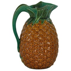 Minton Majolica Pineapple Jug pitcher, English, ca. 1853
