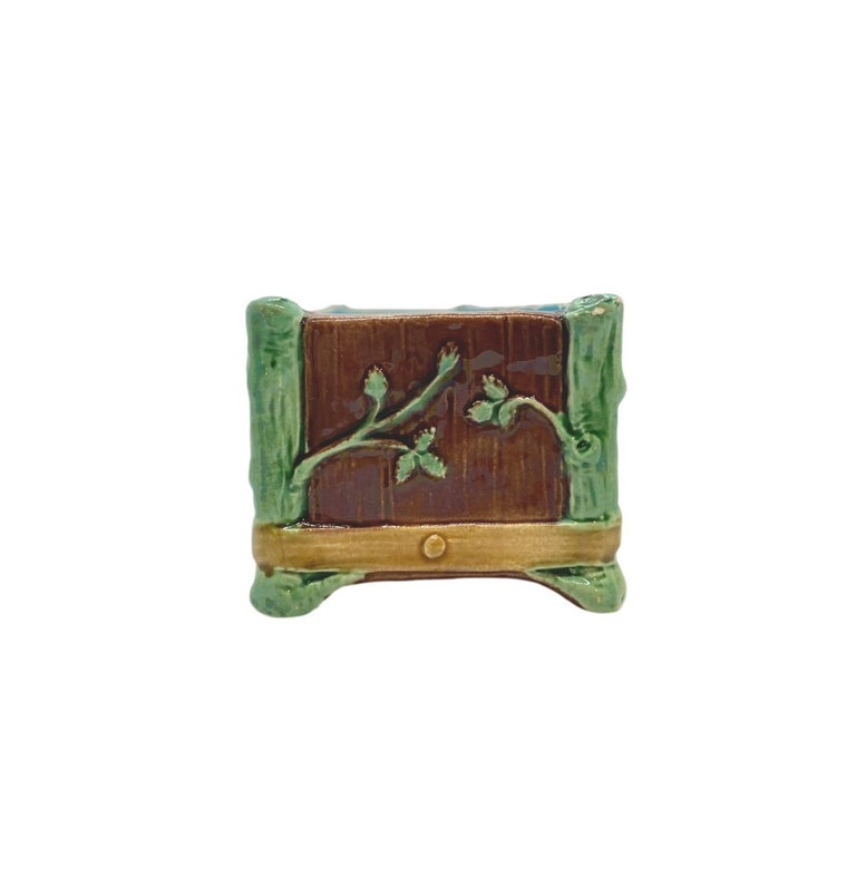 English Minton Majolica Small Jardinière Flower Trough Singed, Dated 1871 For Sale
