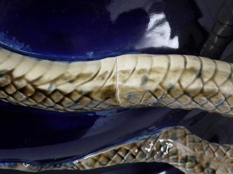 Minton Majolica Snake Jardinière For Sale 6