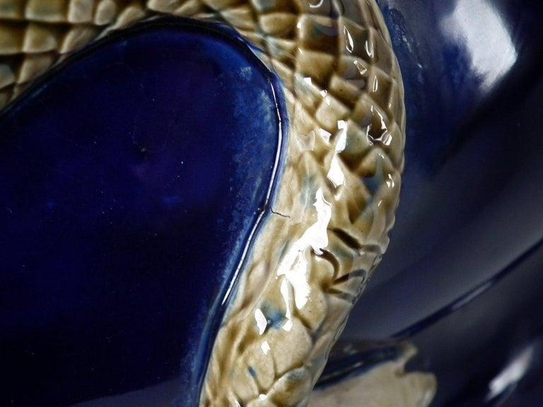 Minton Majolica Snake Jardinière For Sale 9