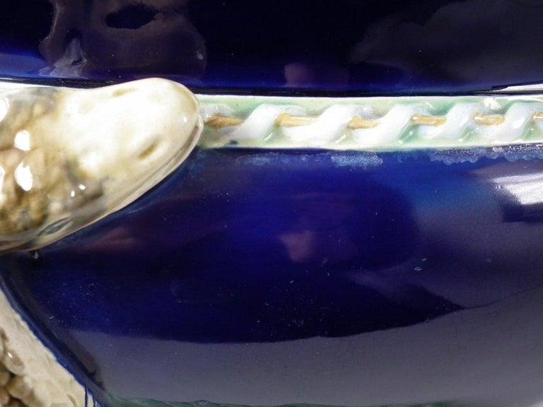 English Minton Majolica Snake Jardinière For Sale