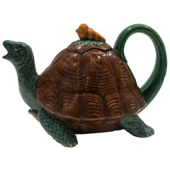 Minton Majolica Tortoise Teapot limited edition signed