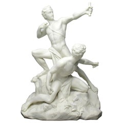 Minton Parian Male Group after Albert Ernest Carrier Belleuse, 19th Century