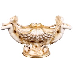 Minton Parian Mermaid Jardinere