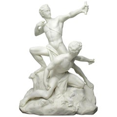 Minton Parian Nude Male Group After Albert Ernest Carrier Belleuse, 19th Century