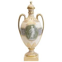 Minton Pate-Sur-Pate Decorated Porcelain Lidded Urn by L Birks, Dated 1892