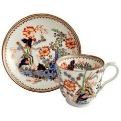 Minton Porcelain Coffee Cup, Kakiemon Tiger Pattern, D Regent Shape, ca 1835