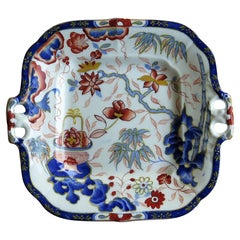 Minton Porcelain Handled Dish or Plate in Imari Pattern 1052, English circa 1825