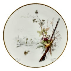 Minton Porcelain Plate, Putti and Rabbit Scene by A. Boullemier, circa 1885