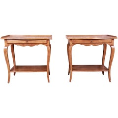 Minton-Spidell French Provincial Louis XV Maple Nightstands, Pair