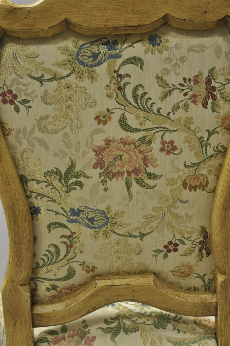 Minton Spidell Italian Regency Rococo Cream Painted Dining Chairs, Set of 4 For Sale 5
