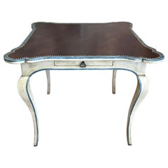 Minton Spidell Leather Topped Game Table