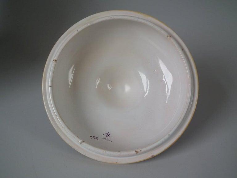 Minton Tin-Glazed Majolica Pictorial Lidded Vase For Sale 2