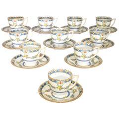 Mintons Princess Demitasse Cups and Saucers 20 Pieces