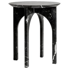 'Minus Side Table' Minimalist Side Table in Marquina Marble