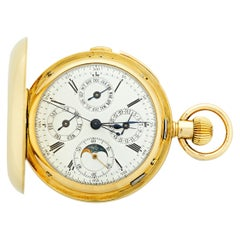 Minute Repeating Chronograph Pocket Watch by A. Lugrin