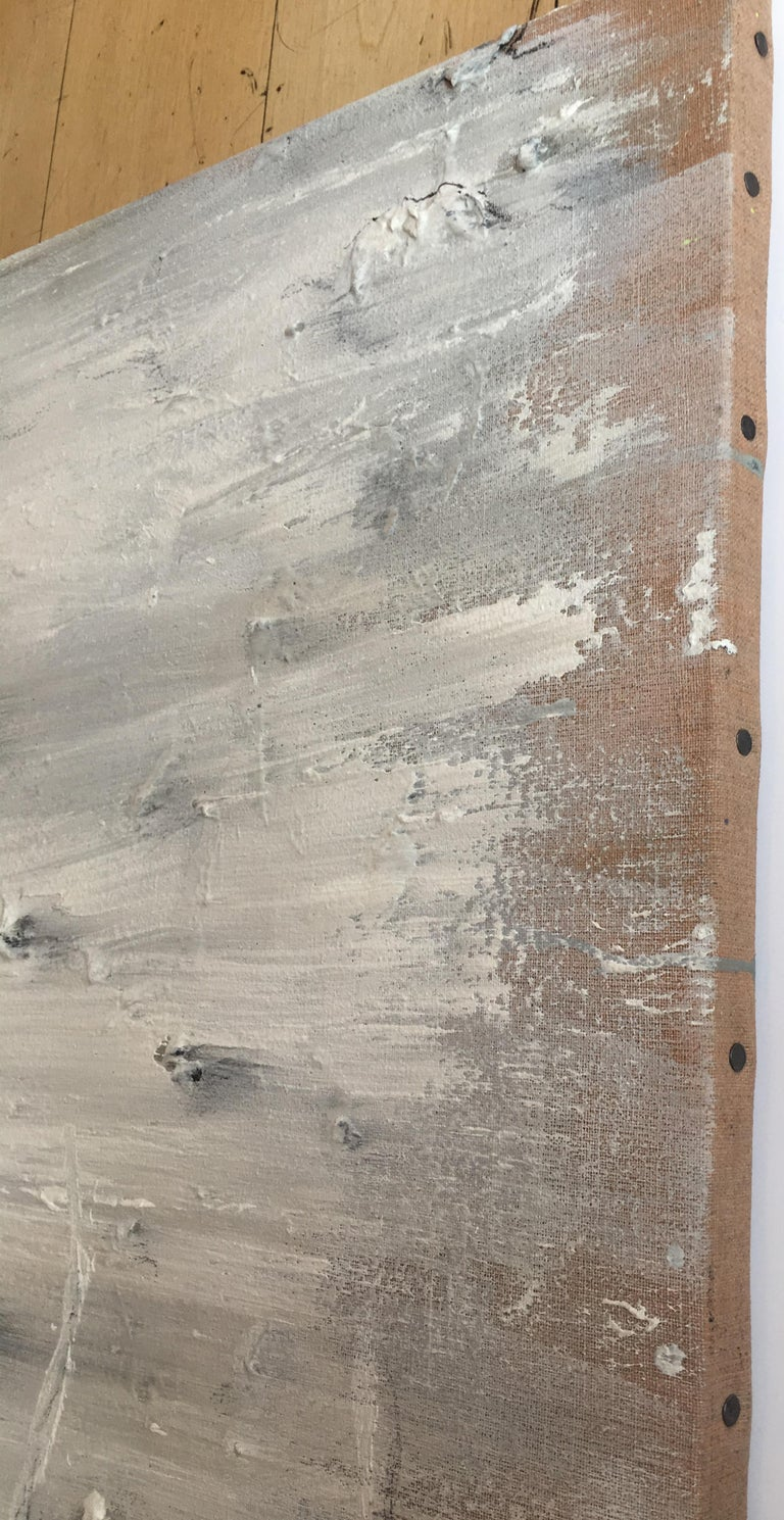 Hombori - Gray Abstract Painting by Miquel Barceló