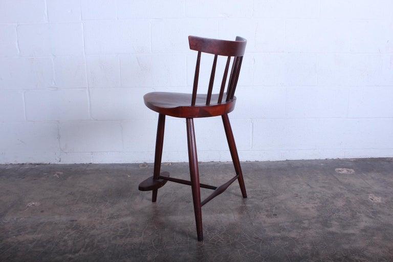 Mira Barstool by George Nakashima For Sale 4