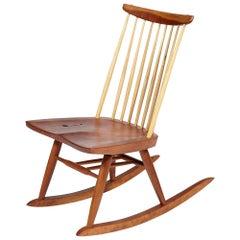 Mira Nakashima Figured Rocker Chair circa 2009 Signed and Dated