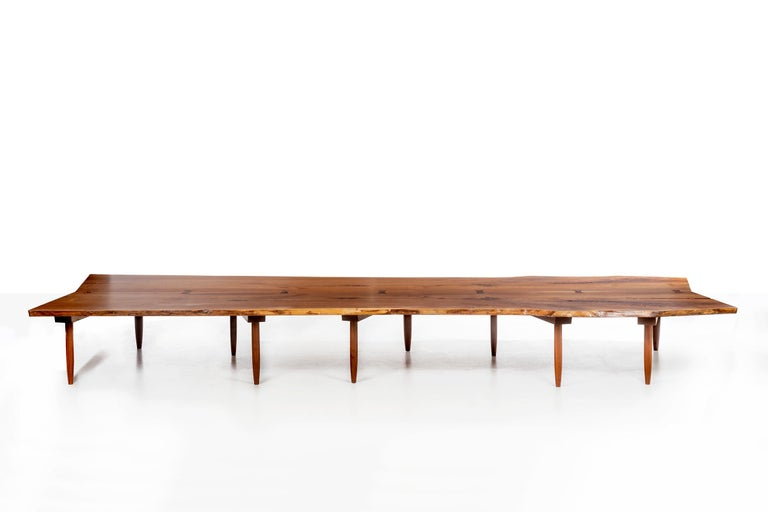 Nakashima bench, produced for the Hyatt Corporation Headquarters, Chicago.
