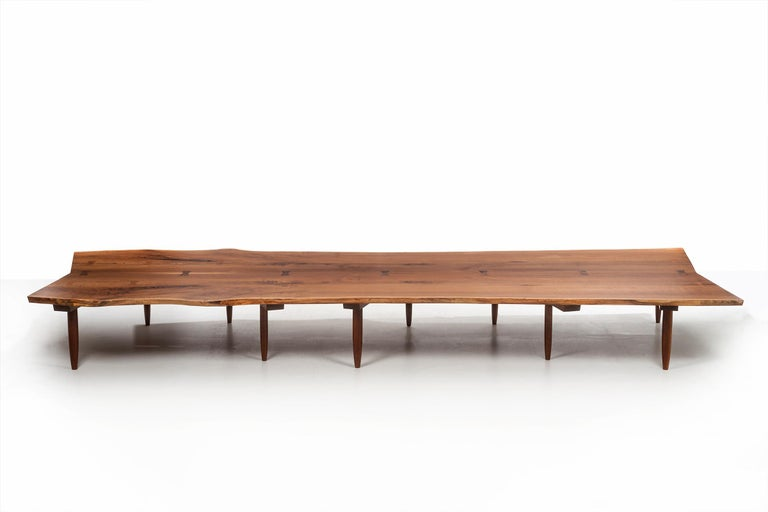 Mira Nakashima Monumental Bench For Sale 13