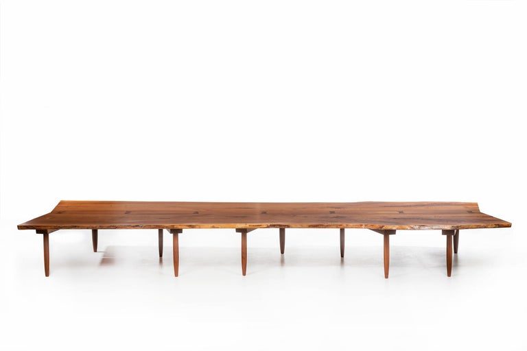 American Craftsman Mira Nakashima Monumental Bench For Sale