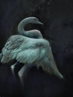 Swan Dream, Painting, Oil on Canvas