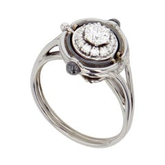 Mira White Gold and Diamond Ring by Elie Top