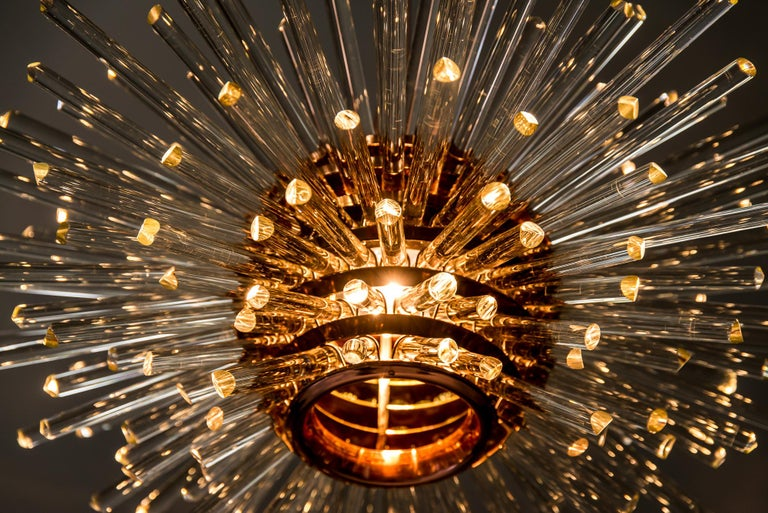 Miracle Sputnik Chandelier Vienna 1960s by Bakalowits For Sale 11