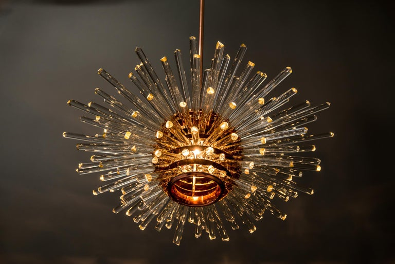 Miracle Sputnik Chandelier Vienna 1960s by Bakalowits For Sale 12