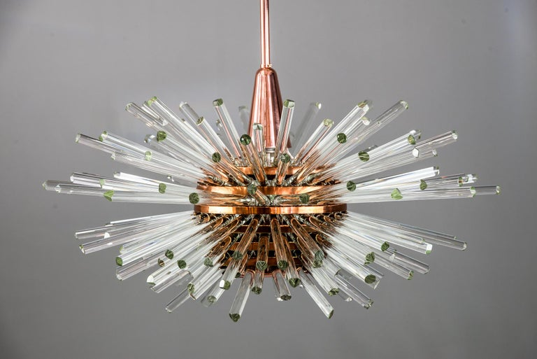 Austrian Miracle Sputnik Chandelier Vienna 1960s by Bakalowits For Sale